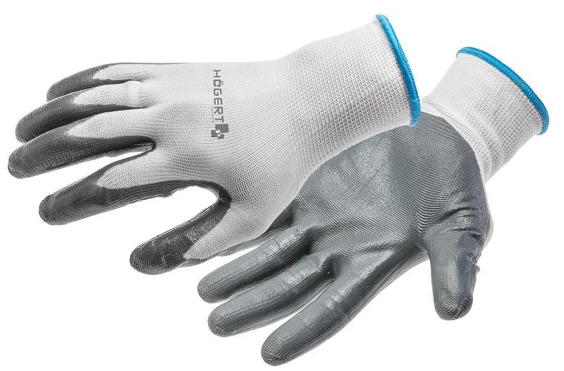 Рабочие перчатки нитриловые HOEGERT HT5K215
